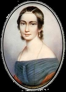 Clara Schumann als junge Frau, Lithographie von Andreas Staub, um 1838 (allgemeinfrei, wiki)