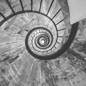 Treppe in der Villa Medici © Susanne Wosnitzka