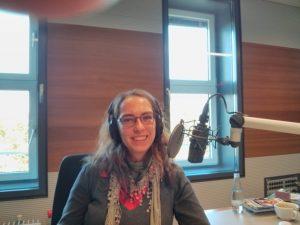 Dr. des. Marleen Hoffmann beim Interview im DLF Kultur © Archiv Frau und Musik
