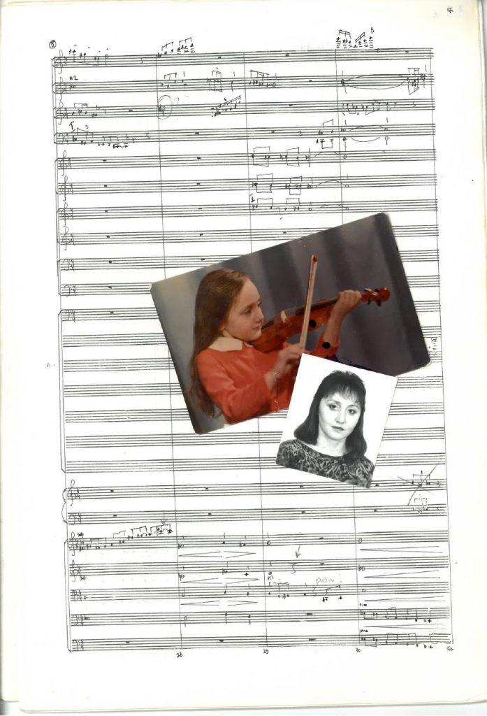 Collage aus Porträtfotos und Autograph © Archiv Frau und Musik