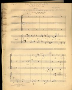 "Leni Alexanders Cantata ""de la muerte a la mañana"" © Archiv Frau und Musik"