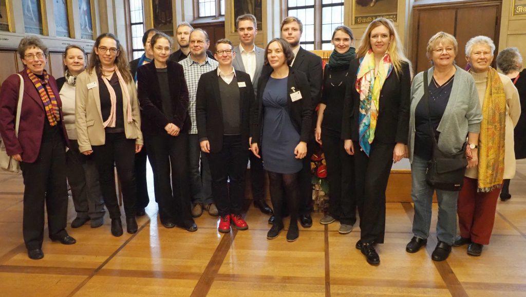 Team des Archivs Frau und Musik mit Vivienne Olive und Barbara Heller bei der Jubiläumsfeier im Frankfurter Römer 2019 © Eva Brendel